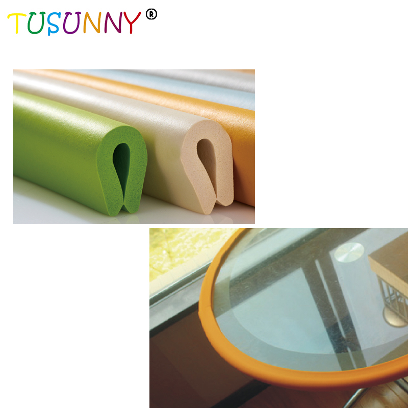 TUSUNNY 'U' Style 2m New  Bumper Strip Baby Safety Corner Protector Glass Table Edge Corner Guards Table Furniture Cushion Strip