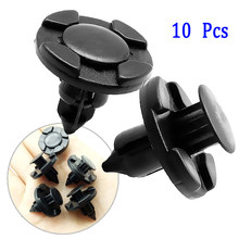 10x voiture style 8mm pare-chocs attache Rivets Clips pour Nissan TIIDA X-TRAIL Qashqai Skoda Octavia Fabia Renault Clio Ford Focus(China)
