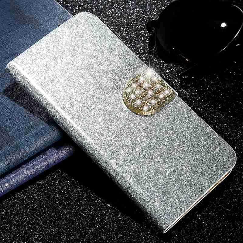 """ZTE Blade A6 Case 5.2 """"ZTE A6 Blade Case Ultrathin Case Kulit PU Lembut Silicon TPU Berdiri untuk ZTE Blade A6 Funda Flip Case"""