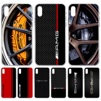 Luxury Mercedes Benz AMG Car Phone Case cover For iphone 4 4S 5 5C 5S 6 6S PLUS 7 8 X XR XS 11 PRO SE 2020 MAX transparent image