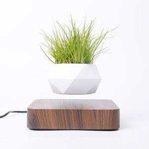 Planters Pot Flower-Pot Magnetic-Suspension-Floating-Pot Air-Bonsai Home-Desk-Decor Rotation