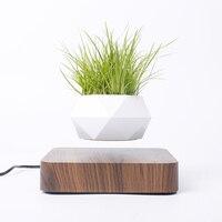 Maceta de aire levitante para bonsái, maceta de rotación para flores, maceta flotante de suspensión magnética, decoración de escritorio para el hogar