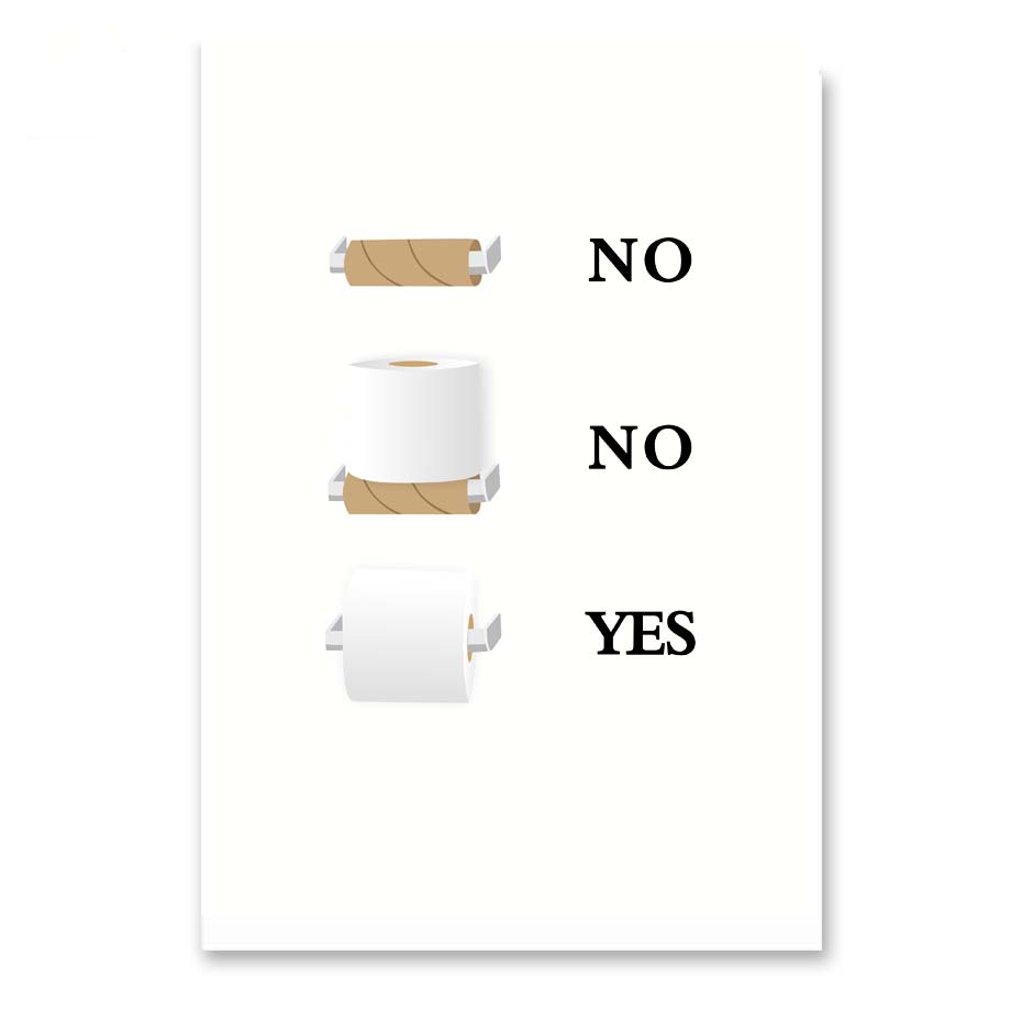 Fun Quirky Toilet Paper Instructions Sign Wall Art Canvas Painting Poster Modern Home Decor Bathroom Funny Humor Minimalist Painting Calligraphy Aliexpress
