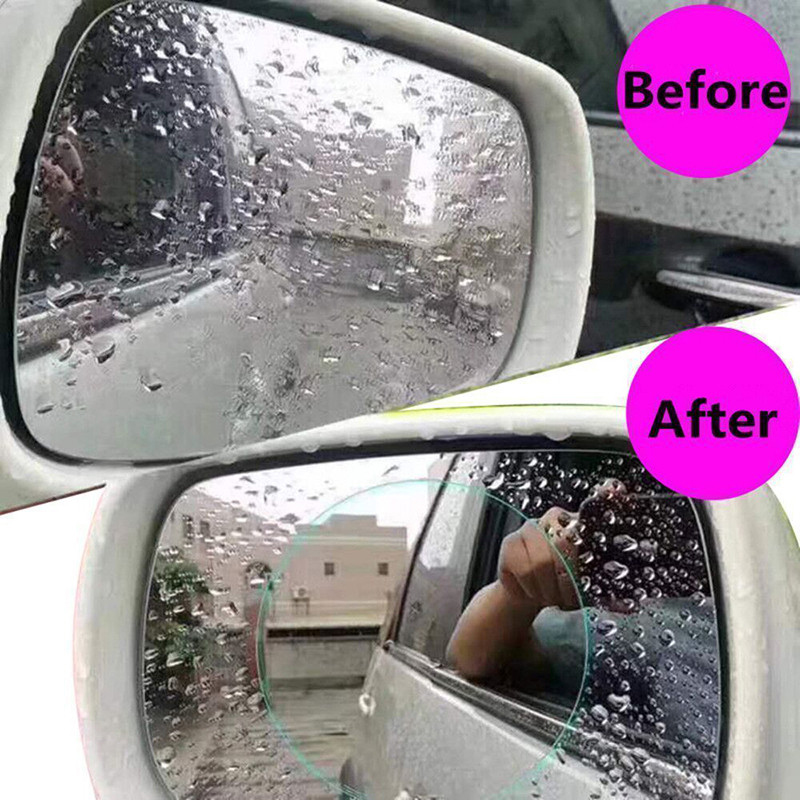 Image 5 - 2Pcs/set Car Rearview Mirror Protective Film Anti Fog Window Clear Rainproof Sticker Rear View Soft Films Auto Car Accessories