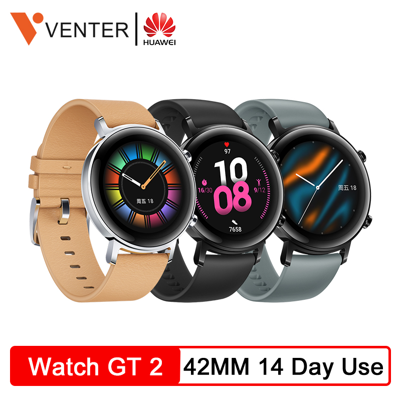 <font><b>HUAWEI</b></font> <font><b>Watch</b></font> <font><b>GT</b></font> <font><b>2</b></font> GT2 42MM Smartwatch Bluetooth 5.1 Fitness Tracker 14 Days Battery Life Phone Call Heart Rate Monitor Android G image