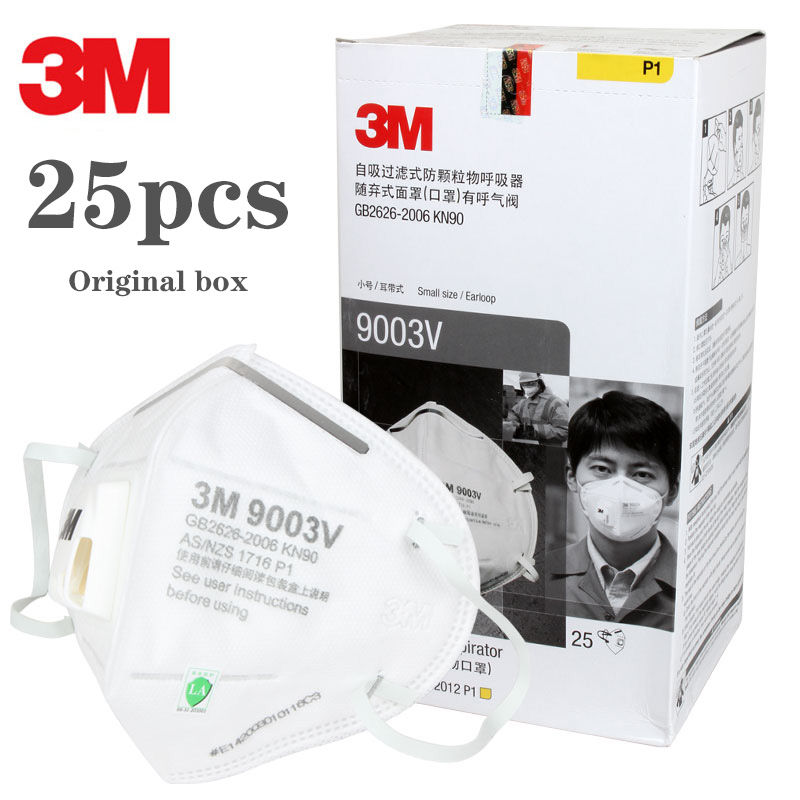 3M Original Respirator Face Masks Anti Haze PM2.5 Active Carbon Filter Head Mounted Safety Mask For Adult Size