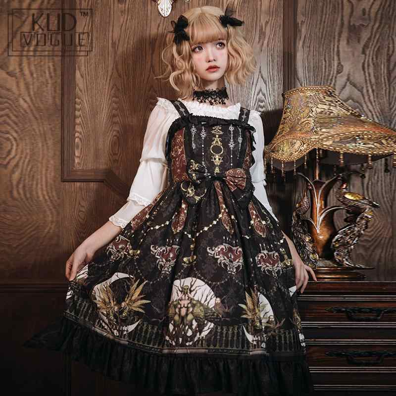Gothic Style Victorian Women Jsk Lolita Dress Wine Prom Dresses Vintage Gorgerous Fairyland Cute Ruffle Classic Cosplay Costume