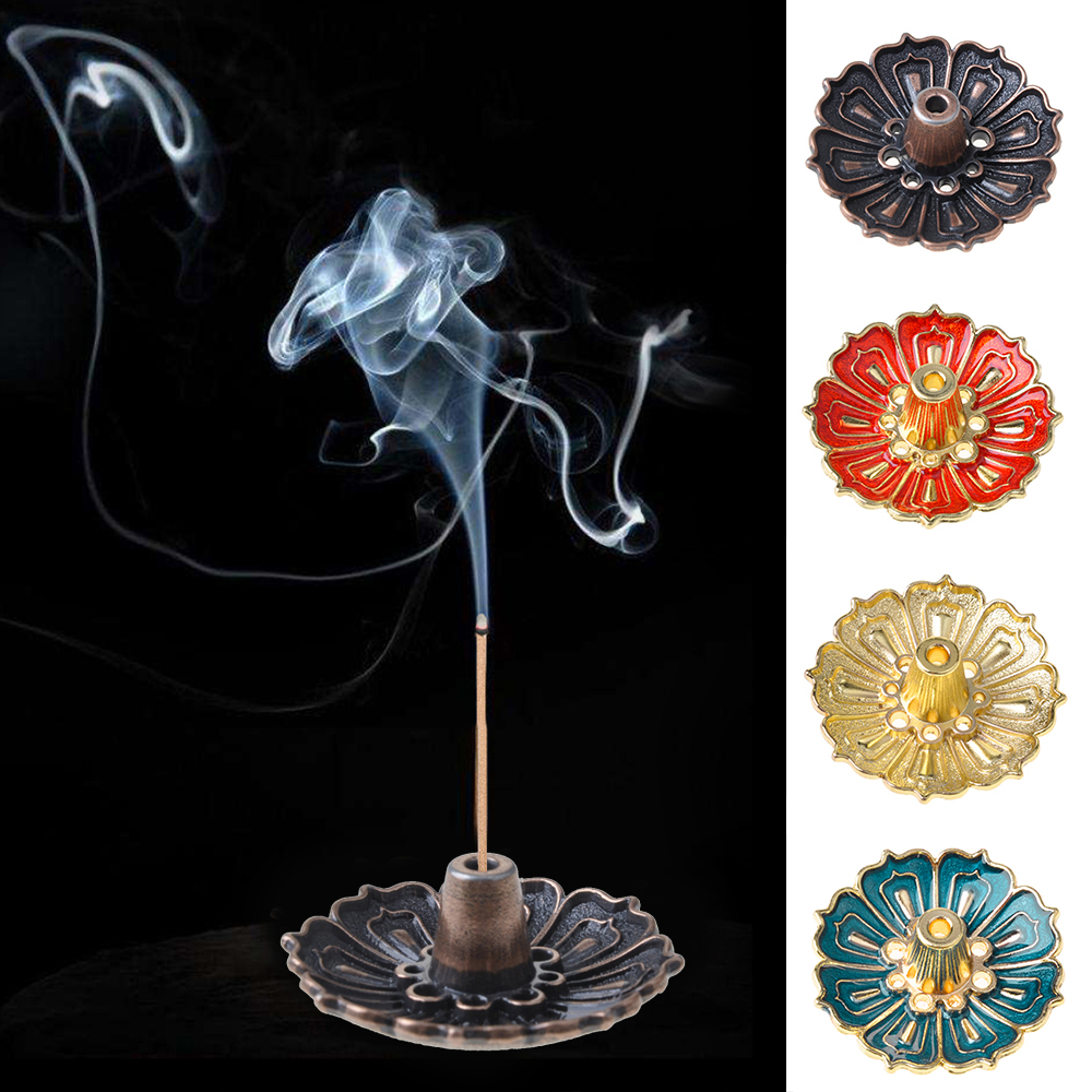 1Pc Gold-plated Mosquito Coil Incense Holder Buddha-hand Incense Burner Clip