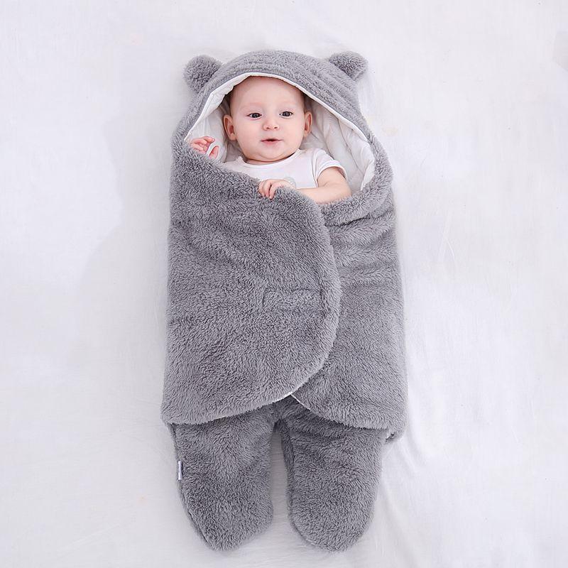 Baju tidur bayi bulu lembut berbulu lembut yang baru lahir menerima - Peralatan tempat tidur - Foto 2
