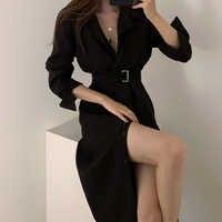 Sexy Soild Party Kleider Lose Sexy & Club Voll Winter Kleider 2019 Club Langarm Kleid Korea Herbst Kleidung Frauen frühling
