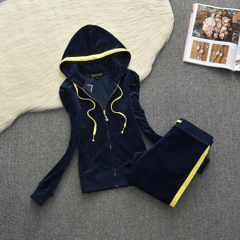 אביב/סתיו 2019 נשים של מותג קטיפה בד אימוניות חליפת קטיפה אימונית נים ומכנסיים שומן אחות ספורט