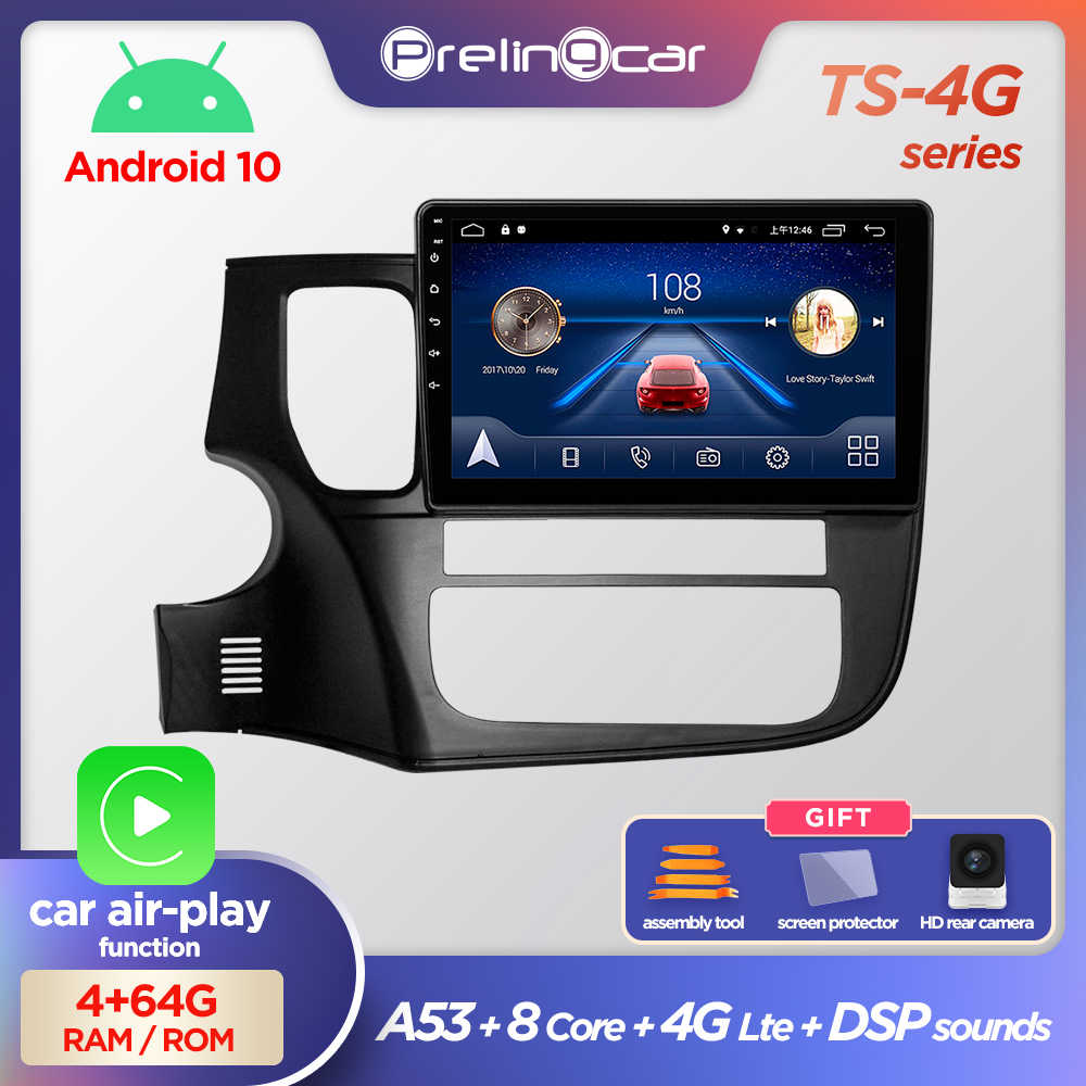 Prelingcar Android 10 DVD Auto Radio Multimedia Video Player di Navigazione GPS Per Mitsubishi Outlander 3 GF0W GG0W 2012-2018 2 din