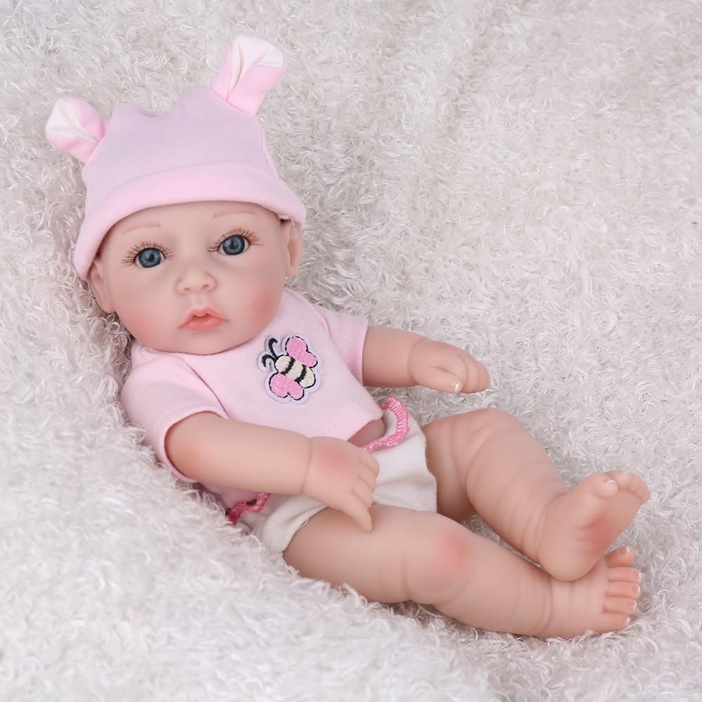 "Mini Real Look Cowboy Baby Dolls Reborn Silicone Preemie Handmade Cute Toys 10/"""