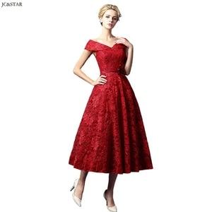 Image 4 - Turquoise Royal Blue Pink Red Green Bridesmaid Dress Tea Length vestidos de dama de honor para boda robe demoiselle dhonneur