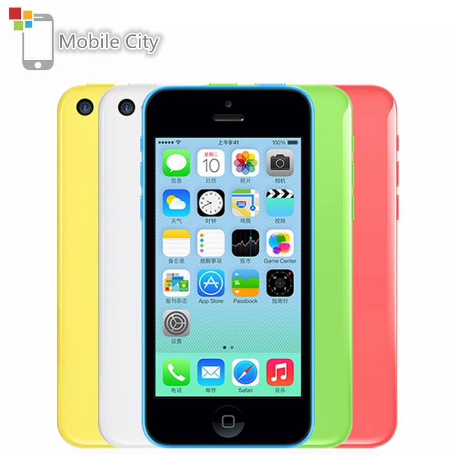"IPhone 5C Entsperrt 4,0 ""8MP Kamera Dual Core Handy 8 GB/16 GB/32 GB ROM apple IOS WiFi GPS WCDMA 3G Original Verwendet Smartphone"