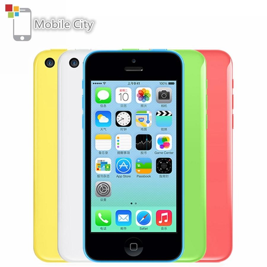 "iPhone 5C Unlocked 4.0"" 8MP Camera Dual Core Mobile Phone 8GB/16GB/32GB ROM Apple IOS WiFi GPS WCDMA 3G Original Used Smartphone|Cellphones| |  - title="