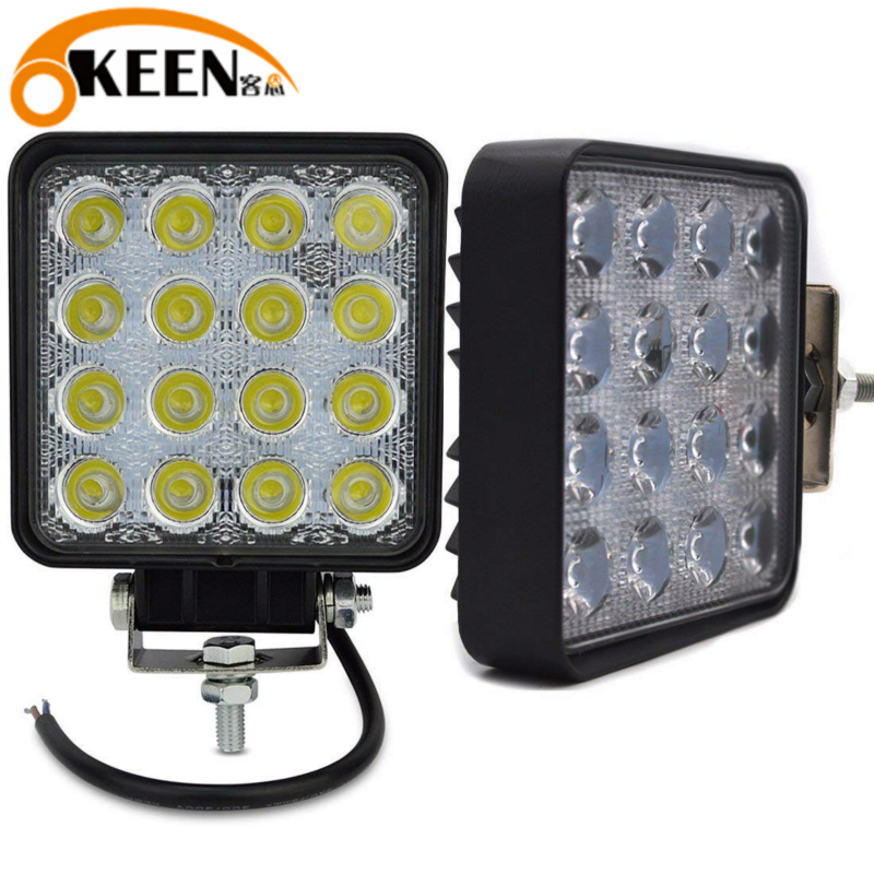 OKEEN Led Light Bar 4inch 48W Spot Led Beam 12V Led Work Light For Tractor Off Road 4WD Truck ATV UTV SUV Driving Lamp Headlight