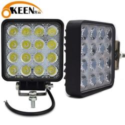 OKEEN led light bar 4inch 48W Spot Led beam 12V led work light for Tractor Off road 4WD Truck ATV UTV SUV Driving Lamp headlight