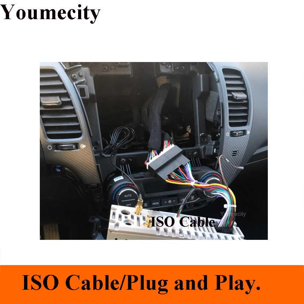 الروبوت 9.0 مشغل أسطوانات للسيارة مشغل فيديو لكيا سيراتو K3 فورتي و headunit مع Ips شاشة راديو wifi بلوتوث MIC RDS كوتا النواة