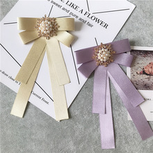 Shirt-Accessories Ribbon Bow-Tie Collar Flower Business-British College-Style Womens