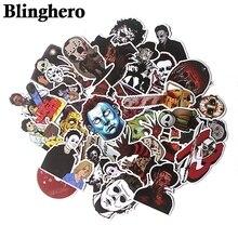 36pcs/set Michael Myers Killers Horror Sticker Waterproof Skateboard Luggage Laptop PVC Scrapbooking Halloween Stickers