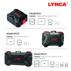 Image 5 - LYNCA Waterproof Memory Card Case Holder Storage Sim Micro TF SD Card Case Storage Box Holder Wallet Bag Carrying Pouce Case