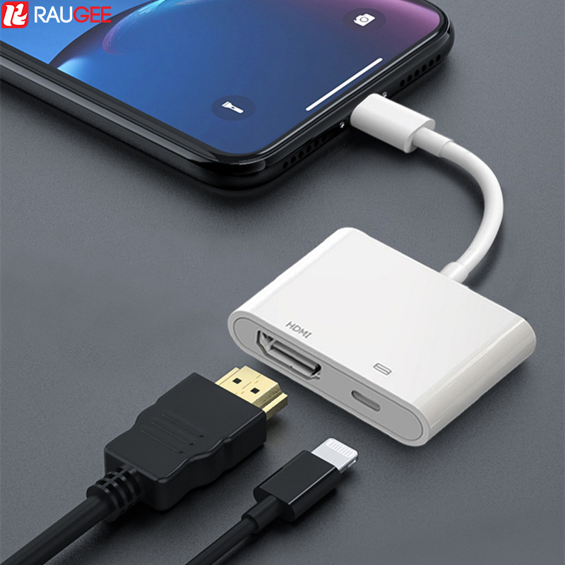 Lightning To HDMI Adapter For TV 1080P HD AV Audio Digital Projector Converter HDMI Cable Adapter For IPad IPhone 11 X XS IOS13
