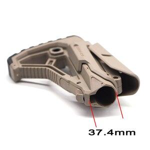 Image 2 - Tactical Nylon regulowany rozszerzony zapas dla wiatrówki CS Sport Paintball Airsoft Tactical BD556 Gel Blaster odbiornik skrzynia biegów