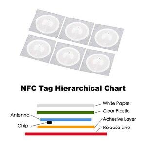 Image 2 - 50 teile/los NTAG215 NFC Aufkleber Tag Für TagMo Durchmesser 25mm Label Forum Type2 Aufkleber Label