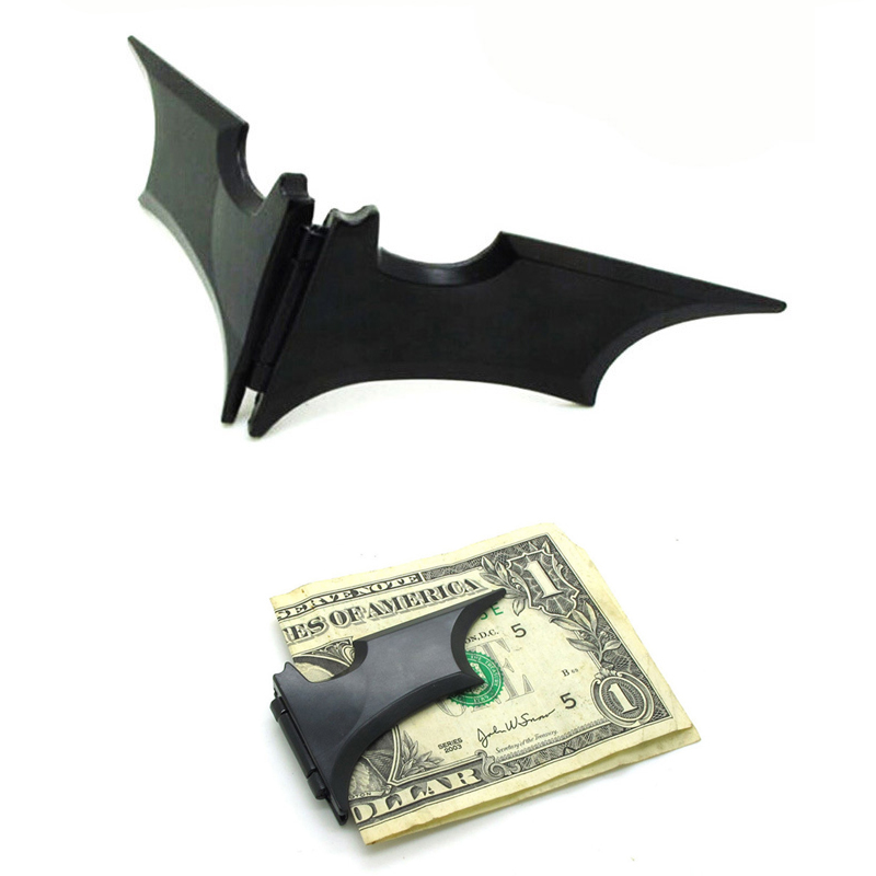 1pcs EDC Outdoor Bat Banknote Clip Portable Pocket Money Clip Tool Stainless Steel Metal Wallet Emergency Survival Tool