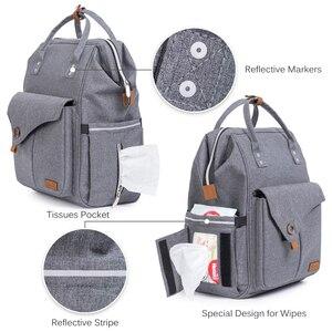 Image 3 - Annelik bezi çanta seti moda mumya çok fonksiyonlu seyahat sırt çantası 2020 büyük kapasiteli su geçirmez bebek bezi çanta anne için