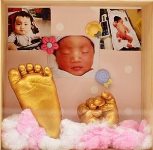Baby 3D Hand & Foot Print mold powder Plaster Casting Kit Handprint Footprint Keepsake Gift Baby Growth Memorial