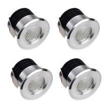 MINI spot LED lampa sufitowa wbudowana mała Spotlight gablota prezentacyjna miniaturowa Mini Spotlight wysoki połysk ciepłe białe światło tanie tanio ICOCO CN (pochodzenie) HOLIDAY Reflektor Aluminium Żarówki led Polished chrome 85-265 v Foyer embedded
