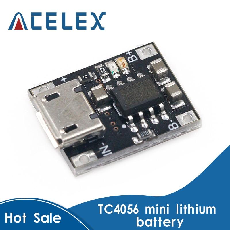 Module de chargeur de charge de batterie au Lithium à cellule unique 10 pièces 1A 5V-6V 4.2V TC4056 TC4056A carte dalimentation Micro USB TP4056