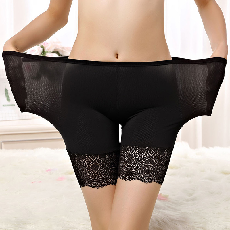 60KG-90KG Women Plus Big Size Safety Pants Soft And Comfortable Nylon Cotton Material Boxer Shorts With Lace  Panties 2019 New.