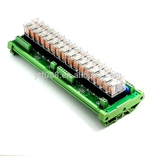 цена на 16 channel Relay Module Module Control Panel driver Board PLC Amplifier Board G2R-1-E 24V 8 Feet