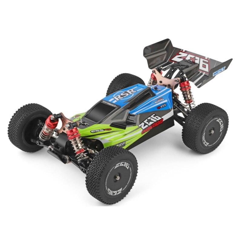 WLtoys 144001 2.4G course télécommande voiture compétition 60 km/h métal châssis 4wd électrique RC formule voiture pour cadeau de noël 2