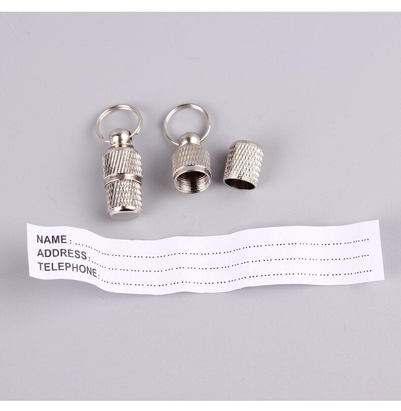 Dog Cat Storage Tube Anti Lost Address Label Pet Name Address ID Tags Mini Metal Collar Tube Necklace Pendants Pitbull Collars|ID Tags| - AliExpress