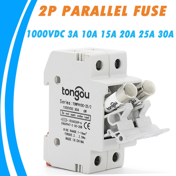 цена на 1 Set 2P Parallel Fuse Holder 10*38mm With DC 1000V 3A 10A 15A 20A 25A 30A Fusible for for Solar System Protection PV BAT Fuses