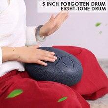 Сильный пустой барабан Handpan Tranquilizing Mini 5 дюймов нержавеющая сталь 2 цвета ударный инструмент национальная музыка Йога