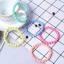 Colorful Fashion Children Bracelets Girl Acrylic 8cm Bracelet Birthday Gift Jewelry Children Accessory Kids Girls Party Jewelry(China)