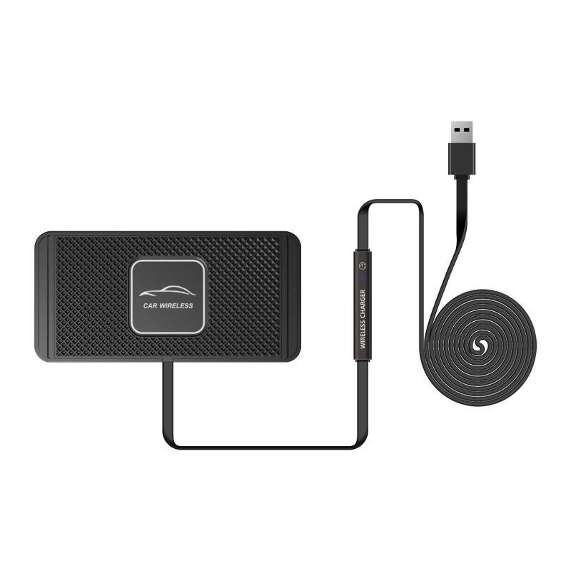 Универсальное автомобильное зарядное устройство USB Qi для быстрой зарядки, зарядная док-станция для приборной панели для iphone X, XR, XS, 8 Plus, Samsung ...