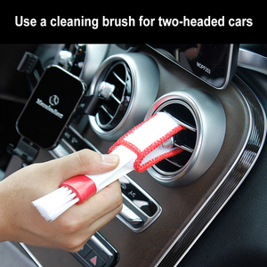 Double Slider Car Air-conditioner Outlet Car Interior Accessories Multi-purpose Brush Car Accessories Window Cleaning Dust Brush