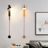 Post modern iron gold/black LED wall lamp Nordic living room decor bedroom bedside lights stairs corridor porch lighting fixture