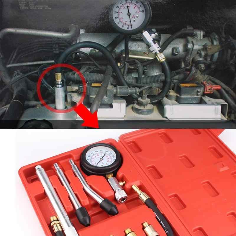 Nouveau testeur de Compression manomètre testeur Kit moteur Auto essence essence moteur cylindre moto manomètre adaptateur