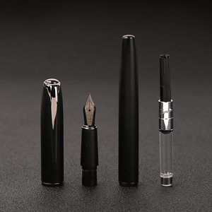 Image 4 - New Arrivel 2020 Pimio Matte Black Series Fountain Pen Luxury Metal Ink Pens with Gift Box Christmas Gift Free Engraved Accpet