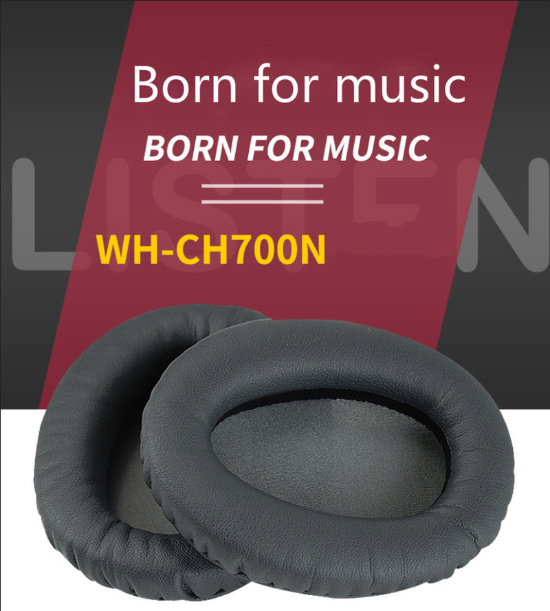 SHELKEE <font><b>Replacement</b></font> Memory foam Protein leather cushions <font><b>Ear</b></font> <font><b>pads</b></font> <font><b>Ear</b></font> Cover Repair partsfor Sony WH-CH700N image