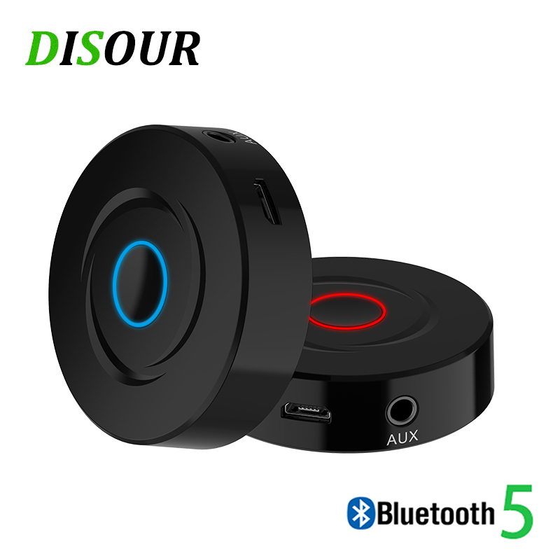 DISOUR 2 IN 1 Bluetooth Receiver Transmitter For TV CAR 5.0 Stereo Music Receivers Ricevitore 3.5mm AUX Audio Wireless Adapter
