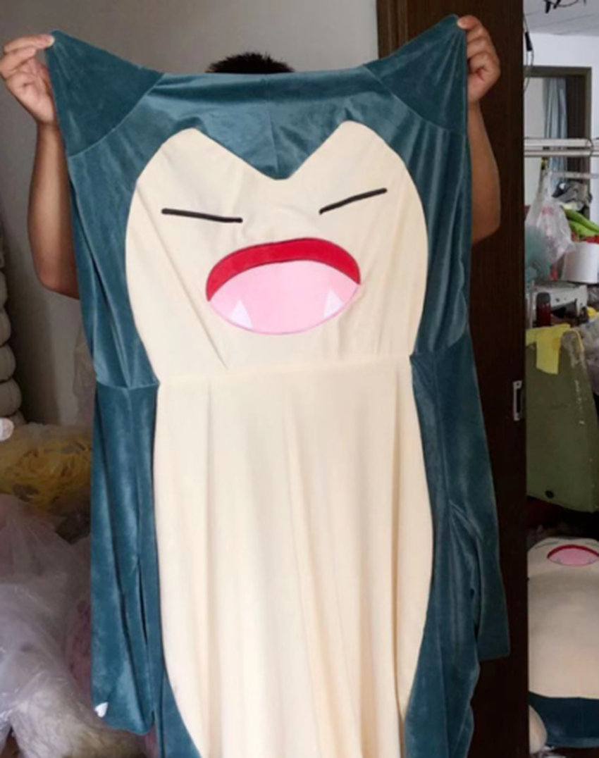 30-200cm Snorlax plush pillow Big soft anime snorlax plush toy With Zipper Only Cover No Filling kids gift for Christmas