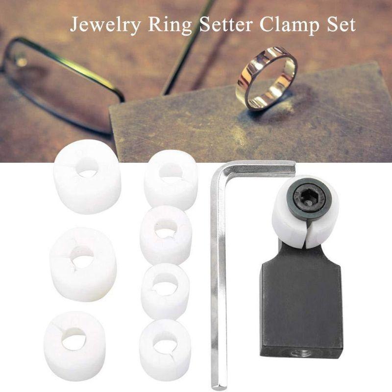 Jewelers Ring Setting Kit Handwork Jewelry Tools Engraving Block Inlaid Diamond Full Set Ring Setter Clamp Work Holder